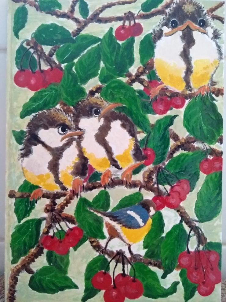 BirdsCherries
