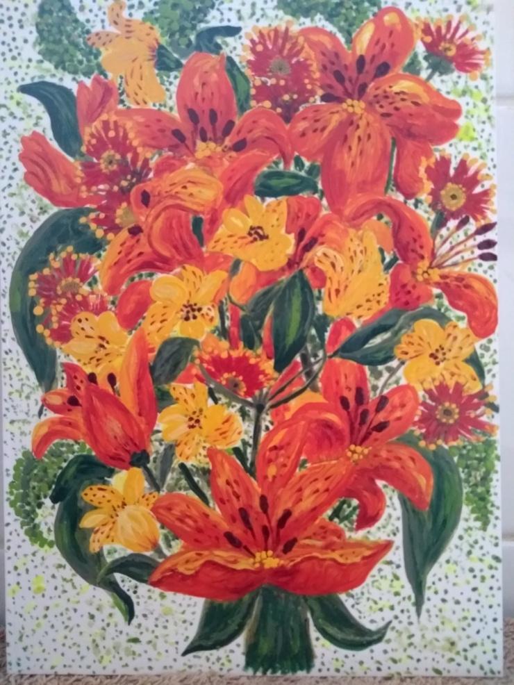 OrangeLiliesBouquet