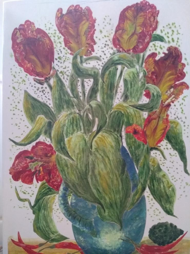 TulipsBlueVase