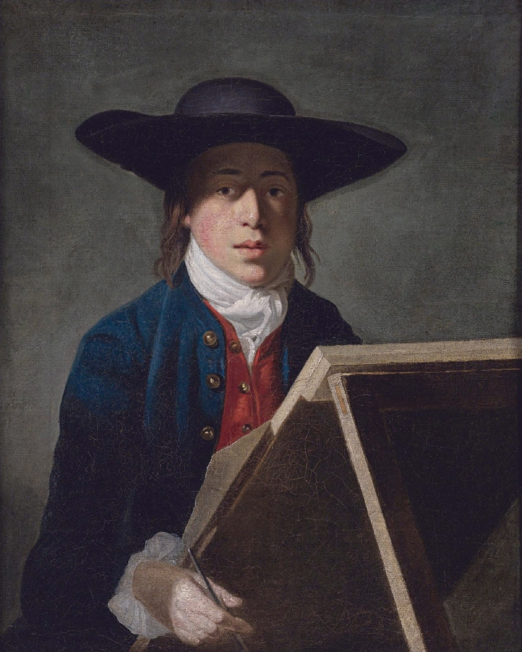George Morland at an easel